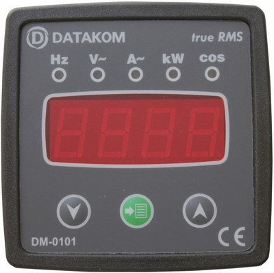 Multi Meter Panel DATAKOM DM-0101, 1 phase, 72x72mm