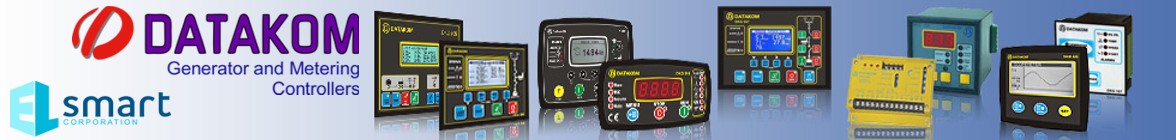 DATAKOM: ATS, AMF, AVR, ECM, DKG controllers for diesel, gas, petrol gensets including manual start and auto mains failure generator controls, electronic engine governors, alternator automatic voltage regulators, automatic transfer switches, battery chargers, meters and analyzers, contactors, synchroscopes and automatic synchronizers for multi generating set paralleling and mains synchronization. Buy Datacom online.